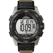 Timex Men's Expedition Rugged Digital Compass Watch, Brown Nylon Strap