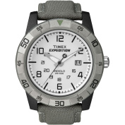 Timex Men's Expedition Rugged Analogue Watch, Green Canvas Strap