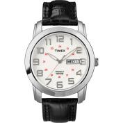Timex Men's Sport Chic Watch, Black Leather Strap
