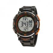 Armitron Men's Black Dial And Orange Accents Chronograph Watch, Black Resin Strap