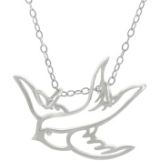 Brinley Co. Sterling Silver Swallow Pendant, 45.7cm