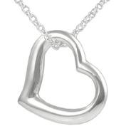 Brinley Co. Sterling Silver Open Heart Pendant, 45.7cm