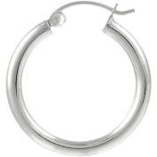 Brinley Co. Sterling Silver Hoop Earrings