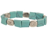 Premium Connection 290-TBFLT Bret Roberts Turquoise Square Cut Bracelet