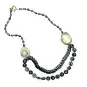 Pearlz Ocean Fashion Hematite Necklace