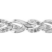 Miabella 1 Carat T.W. Diamond Sterling Silver Tennis Bracelet, 18cm