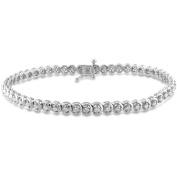 1 Carat T.W. Diamond Sterling Silver Tennis Bracelet, 19.1cm