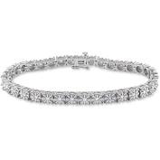 Miabella 1/2 Carat T.W. Diamond Sterling Silver Tennis Bracelet, 18cm
