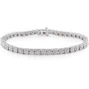 Miabella 1/4 Carat T.W. Diamond Sterling Silver Tennis Bracelet, 18cm