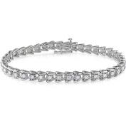 Miabella 2 Carat T.W. Diamond Sterling Silver Tennis Bracelet, 18cm