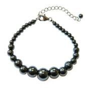 Pearlz Ocean Journey Hematite Beaded Bracelet