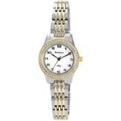 Armitron Women's Crystal Accent Watch, Two-Tone Bracelet