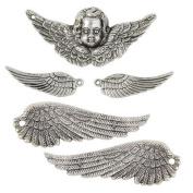 Janlynn Steampunk Wings and Cherubs Charm