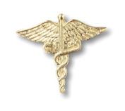 Prestige Medical Large Gold Caduceus