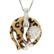 Pearlz Ocean Enamel Print Animal Sterling Silver Topaz Necklace