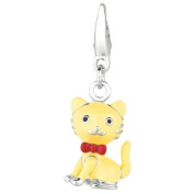 EZ Charms Sterling Silver Cat Charm
