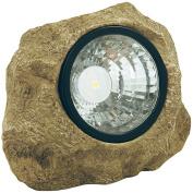 Moonrays 91211 Solar Powered LED Rock Spotlight Garden Accent with Hidden Key Compartment