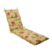 Pillow Perfect 495576 Outdoor Risa Chaise Lounge Cushion in Lemonade - Yellow-Red-Gold