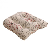 Pillow Perfect 475295 Floral Chair Cushion - Red-Beige