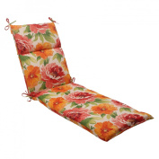 Pillow Perfect 503301 Outdoor Primro Chaise Lounge Cushion in Orange - Orange-Red-Green