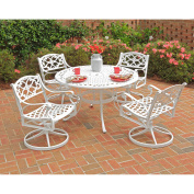 Home Styles Biscayne 5-Piece Dining Set, White