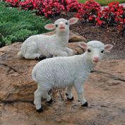 Design Toscano QL957573 Yorkshire Lamb Garden Sitting Lamb and Standing Lamb Statue