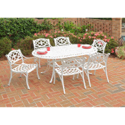 Home Styles Biscayne 7-Piece Dining Set, White