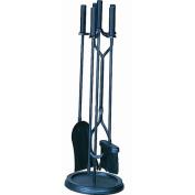 Uniflame 5-Piece Fireplace Tool Set, Black