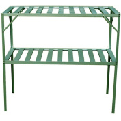 2-Stage Greenhouse Shelving, Green