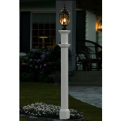 New England Arbours Portsmouth Lamp Post in White