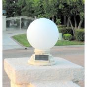 Homebrite Solar Solar Power Frosted Glass Globe Entrance Light