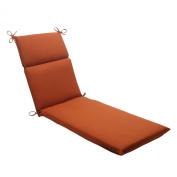 Pillow Perfect 503950 Outdoor Cinnabar Chaise Lounge Cushion in Burnt Orange - Orange