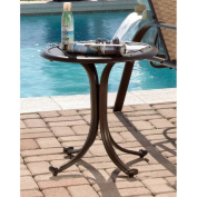 Panama Jack Island Breeze Patio End Table with Slatted Aluminium Top - Espresso Finish