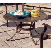 Panama Jack Island Breeze Patio Coffee Table with Slatted Aluminium Top - Espresso Finish