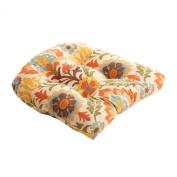Pillow Perfect 474236 Santa Maria Chair Cushion in Adobe