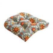 Pillow Perfect 474182 Mayan Medallion Chair Cushion in Adobe