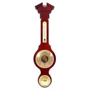 Bey-Berk International Banjo weather Station with Baro., Thermo., Hygro. on Walnut Wood T.P.