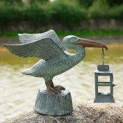 SPI Home Pelican Lantern Statue