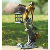 SPI Home Mermaid Lantern Statue