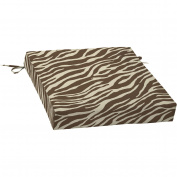 Mainstays Dining Seat Outdoor Cushion, Zebra
