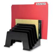 Kantek Organiser Sorter, Five Compartmentss, 8''x5-3/4''x6'', Black