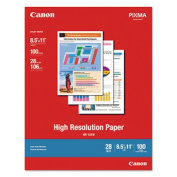 Canon High Resolution Paper Letter 8.5 Inch x 11 Inch 100 Sheet High Resolution Paper 1033A011