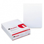 Universal Glue Top Writing Pads, 50-Sheet Pads/Pack, 12/Pack