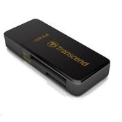 Transcend Compact F5 USB 3.0 BLACK Card Reader/ Writer Supports SDHC/SD/MMC/MicroSD/MicroSDHC/M2