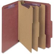 Smead Manufacturing Company Pressboard Self Tab Classification Folders, 10/Box