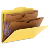 Smead Manufacturing Company SMD14084 Folders W-Pocket Dividers- Letter- 2 Partitions- Yellow