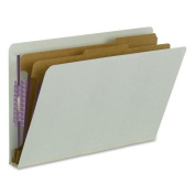 Smead Manufacturing Company SMD29810 Classification Folders- 2 Dividers- 5.1cm . Exp- Legal Size- Grey