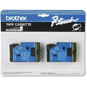 for Brother P-Touch Tc Tape Cartridges for P-Touch Labelers, 1/2W, 2/Pack
