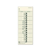 TOPS BUSINESS FORMS                                Time Cards, 150lb., Named Days, 3-1/2''x9'', 100 per Pack