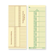 TOPS BUSINESS FORMS                                Time Cards, 150lb., Named Days, 3-3/8''x8-1/4'', 100 per Pack